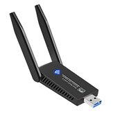 Adaptateur WiFi 1300 Mbps USB3.0 802.11ac double Bande 2 * 5dBi antenne carte réseau sans fil WiFi Dongle émetteur récepteur