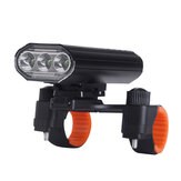 XANES® 3xT6 Rechargeable Bike Light Super Bright IPX6 Waterproof LED Phare de vélo 5 modes Bike Front Light Cycling Fishing