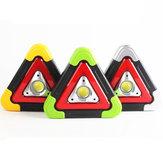 COB+LED4modosde luz de aquecimento de luz de aquecimento de triângulo de energia solar recarregável USB