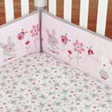 4 stks / set konijn baby babybedje wieg bumper veiligheid beschermer peuter kwekerij beschermende hek