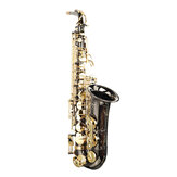 MY S0198 Black Nickel P[lated Gold Key Alto E Flat Brass Saxophone White Shell Clasp