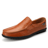 Men Leather Breathable Non Slip Handmade Casual Business Shoes