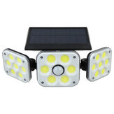 138 COB LED solare Lampione stradale a pannello esterno PIR Sensore di movimento di sicurezza lampada