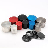 KCASA KC-XS02 Four Piece Forage Herb Grinder Metal Spice Crusher Zinc Alloy Pollen Catcher