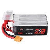 URUAV 22.2V 2000mAh 75C 6S Lipo Battery XT60 Plug for RC Drone