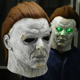 Horror Michael Myers LED Halloween Kills Maschera Cosplay Scary Killer Casco integrale in lattice Halloween Party Costume Puntelli Nuovo 2020