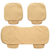 3Pcs Car Seat Cover Universal PU Leather Protector Cushion Front Rear