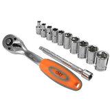 12pcs 1 / 4Zoll CR-V metrische Ratschenschlüssel-Einfaßungs-Reparatur-Werkzeug-Installationssatz