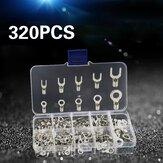AOQDQDQD® 320db-os csatlakozó hidegen sajtolt OT / UT krimpelő terminálok réz orr vezetékvilla készlet dobozával