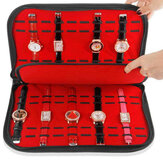 Portable 20 Slots Watch Box Display Collection Storage Bag