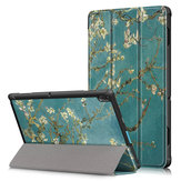Tri-Fold Printing Tablet Case Cover for Lenovo Tab E10 Tablet - Apricot Blossom