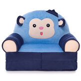 Baby Cartoon Sofa Cover Learning To Sit Comfortable Toddler Kids Folding Soft Fleece Seat Chair Protector without Filler