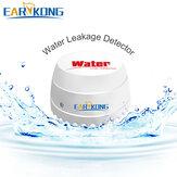 EARYKONG 433MHz Detector de Vazamento de Água Sem Fio Sensor Detector de Intrusão de Alarme Para Segurança Doméstica Wifi / GSM Sistema de Alarme