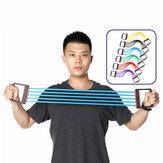 Съемные резиновые 5 трубок Расширитель груди Рычаг захвата руки Рычаг Сопротивление полосы Фитнес Упражнение Набор