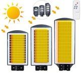 40W 80W 120W Sensor de radar LED Luz solar 2835 Wall Street Lamp Jardim Iluminação exterior + Controle Remoto