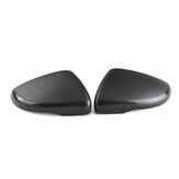 Carbon Fiber Left/Right Side Wing Door Rearview Mirror Cover Cap For VW Touran Golf MK6