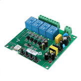 AC110V AC220V 10A Controle Smart Switch Point Remote Relais 4 Kanaals WiFi Module Zonder Shell