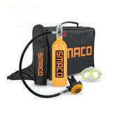 SMACO 1L 20min ensemble de réservoir de plongée sous-marine réservoir de plongée soupape de respiration lunettes sac de rangement natation équipement de plongée