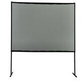 Tela do projetor com suporte 100 polegadas PVC cinza Soft HD 16: 9 Tripé portátil Projetor cortina de filme Real Multifuncional frontal para entretenimento interno ao ar livre Home theater com transporte Bolsa