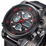AMST AM3020 Vodotěsný Datum Týden Chime Alarm LED Men Student Vojenské Venkovní Turistika hodinky