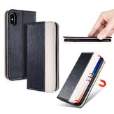 Bakeey Premium Magnetic Flip Card Slot Kickstand Protective Case For iPhone X