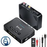 Bakeey OLED kijelző NFC-kompatibilis bluetooth V5.0 audió adó vevő vezeték nélküli 3,5 mm Aux / 2RCA / optikai audio adapter / FM adó támogatás USB lemez TF kártya TV PC hangszóróhoz Autó Sould System otthoni hangrendszer
