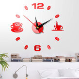 3D DIY Wall Clock Acrylic Mirror Sticker Self-Adhesive Home Decoration