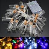 Alimentato a batteria 20 LED che desidera bottiglia luce leggiadramente della stringa di natale matrimonio giardino arredamento partito
