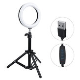 3 Light Modes 9 Brightness 7 inch LED Ring Fill Light LED Ring Full Light Tripod Stand Live Selfie Holder with USB Plug for YouTube Tiktok VK Vlog Makeup