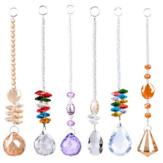Bola de iluminação de cristal Bola octogonal Pingente Contas coloridas DIY Cristal Pingente Pingente Cortina de contas