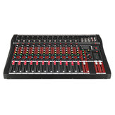 12 Channel bluetooth Live Studio Audio Mixer Mixing Console with USB XLR Input 48V Phantom
