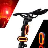 XANES STL03 100LM IPX8 Speichermodus Fahrradrücklicht 6 Modi Warnung LED USB Aufladen 360 ° Rotation