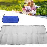 Двусторонняя алюминиевая пленка Коврик для пикника Складная спальная подушка Водонепроницаемы Алюминиевая фольга для пикника На открыто