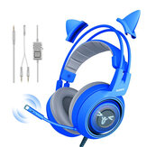 Somic G952S Blue Cute Gaming Headset 3.5mm Plug Wired Stereo Sound Cuffie con Microfono per Computer PC Gamer Girls Regali per bambini
