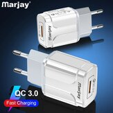 Chargeur USB Marjay 18W QC3.0 Charge rapide pour Samsung Galaxy S21 Note S20 ultra Huawei Mate40 P50 OnePlus 9 Pro