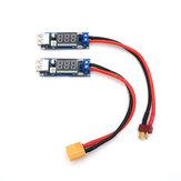 2-6S Lipo Batería T Plug XT60 Enchufe del tablero del módulo del cargador Transferencia a USB 5V 2A Para cargar el teléfono en el exterior