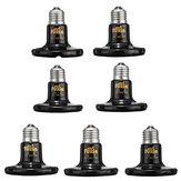 Diameter 80MM Black Infrared Ceramic Emitter Heat Light Lamp Bulb For Reptile Pets Brooder AC110V