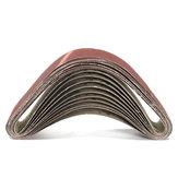 10Pcs 50x686mm Bandes de ponçage 60 120 150 240 Ceintures de ponçage poudres à l'oxyde d'aluminium Outils abrasifs