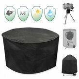 30inch Patio Round Pit Cover Waterproof UV Protector Grill BBQ Chair Table Shelter Black