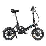 [Direto da UE] FIIDO D3 7.8Ah 36V 250W 14 polegadas Bicicleta dobrável de ciclomotor 25 km / h Velocidade máxima 50 km Faixa de quilometragem Mini bicicleta elétrica