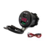 Szybka szybka ładowarka USB 12V-24V QC3.0 Wyświetlacz napięcia Gniazdo adaptera gniazda rozdzielacza