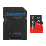 Microdata 8GB C10 U1 Micro TF Memory Card with Card Adapter Converter for TF to SD
