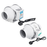 3/4inch Inline Duct Hydroponic Air Blower Fan Booster Ventilation System Low Noise Fan