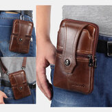 Men Genuine Leather Belt Phone Bag Casual Crossbody Bag Shoulder Bag