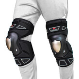 WOSAWE 1 Pair Unisex Knee Pad Motocross Riding Cycling Skating Alloy Steel Plate Leg Elbow Protector