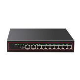 10ポートイーサネットスイッチPOEネットワークスイッチイーサネットスプリッター10 / 100Mbpsデスクトップ用CCTV IP POEカメラワイヤレスAPトラフィック最適化