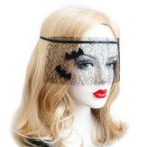 Halloween kostym Black Bat Net Garn Mask Leksaker för Masquerade Ball Party