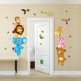 Kreatywne naklejki ścienne świata zwierząt Korytarz Przedszkole Pokój dziecięcy Tło Malarstwo dekoracyjne Wymienne naklejki ścienne