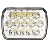 1 Pz 7X6 '' H4 LED Fari Auto Lampadina Crystal Clear Sealed Hi & Lo Beam DC12V 45W 3200LM Bianco