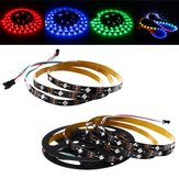 1M 2M 6W 12W IP20 WS2812 IC SMD5050 Non-waterproof Module Bead Tilt 45° RGB LED Strip Light DC5V